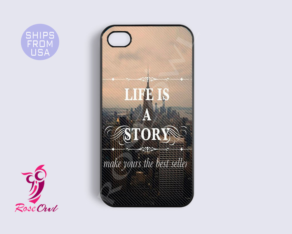 iphone 5s case, iphone 5s cover life quotes unique inspirational